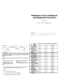 checklist form 2 eng print ready child development