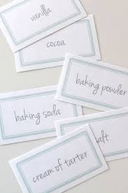 Kitchen Storage Labels - kitchen organization tips u0026 free printable labels
