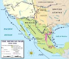 map of mexuco history mexican american war