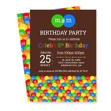 5th birthday party invitation m and m birthday party invitations twins colorful kids