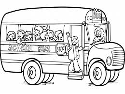 download bus colouring page ziho coloring