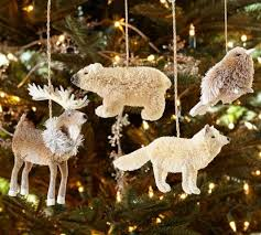 arctic animal ornaments set of 4 pottery barn ornaments