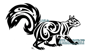 starry tribal squirrel tattoo by wildspiritwolf on deviantart