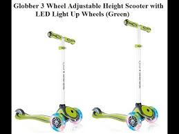 razor kick scooter light up wheels globber 3 wheel adjustable height scooter with led light up wheels