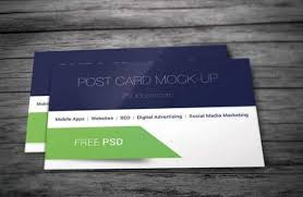 20 amazing and free postcard psd templates