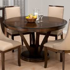 interior awesome small dining room design with dark brown round