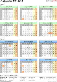 split year calendars 2014 15 july to june for word uk version
