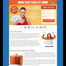make fast cash at home free access lead capture page design to