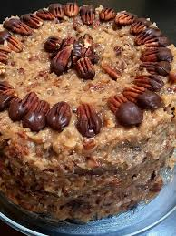 german chocolate cake with coconut pecan frosting u2013 fresh whole