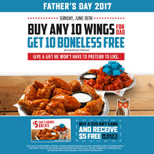 free wings for dads at hooters this father u0027s day hooters