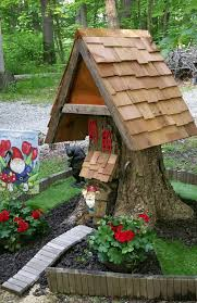 tree stump planters gnome house from a tree stump home sweet gnome fairy gardens