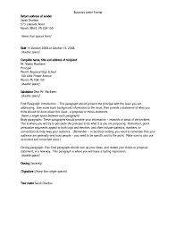 business letter format sample letter idea 2018
