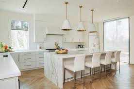 marble island kitchen kitchen white kitchen with laminate floor and marble island