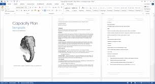 capacity plan template download microsoft word and excel templates