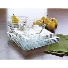 mainstays 12 square glass dinnerware set walmart