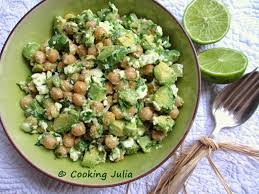 cuisiner avocat cooking salade de pois chiches avocat et feta eat