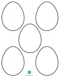 blank easter egg coloring pages getcoloringpages inside coloring
