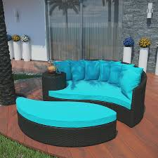 Turquoise Patio Chairs Modway Taiji Outdoor Wicker Patio Daybed With Ottoman