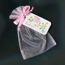 pink organza bags baby shower favor bags baby girl favor bags gift bags