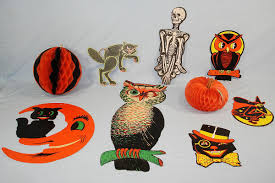halloween decorations for sale vintage die cut halloween decorations beistle luhrs owl skeleton