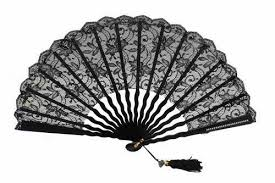 black lace fan silk and lace fans for ceremonies page 3