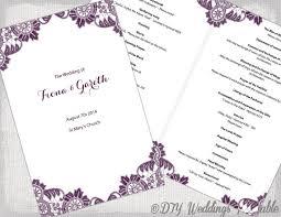 catholic wedding booklet plum catholic wedding program template antique