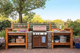 how to build an outdoor kitchen and bbq island stucco finishes