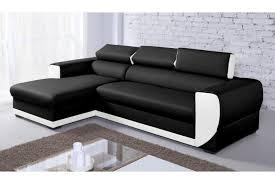 canap d angle noir simili cuir canapé d angle simili cuir noir et blanc canapé idées de