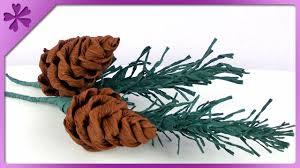 diy tissue paper pine cone eng subtitles speed up 139