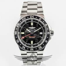 breitling steel bracelet images Breitling superocean gmt 41mm stainless steel bracelet black dial jpg