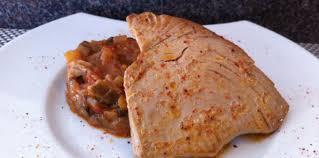cuisiner thon steak de thon et sa ratatouille express facile recette sur