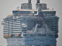 largest cruise ship in the world harmony of the seas world u0027s biggest cruise ship sets sail