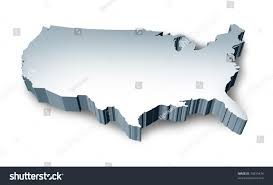 Blank Usa Map by 3d Map Of United States Stock Photo Picture And Royalty Free Us
