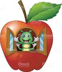 cartoon caterpillar in the apple house stock vector art 638081580