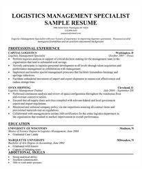 logistics resume 12 useful materials for logistics top 8