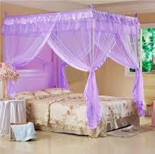 Canopy Bed Curtains Queen Aliexpress Com Buy 4 Corners Post Bed Curtain Canopy Mosquito