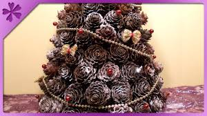 diy pine cones christmas tree eng subtitles speed up 31 youtube