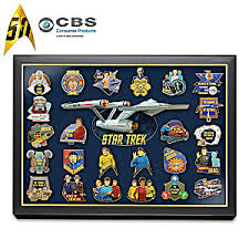 50th anniversary gold plate trek 24k gold plated pin collection