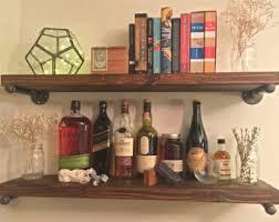 Rustic Wood Bookshelves by Industrial Shelf Etsy