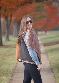 how to wear a faux fur vest helen loves