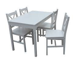 Dining Tables 4 Chairs Foxhunter Quality Solid Wooden Dining Table And 4 Chairs Set