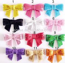 diy baby hair bows sequin flower hair bow for handmade diy baby hair accessories