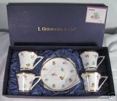 i godinger co rosebud i godinger co rosebud expresso 4 cups saucers set 33612916
