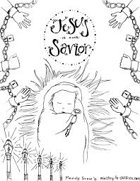 baby jesus coloring pages ba jesus in a manger coloring page free