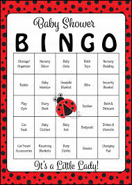 Baby Shower Printable Bingo Ladybug Baby Shower Game Download For Baby Bingo