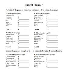budget planner template 6 free samples examples format