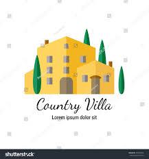 country villa flat icon italian style stock vector 455086666