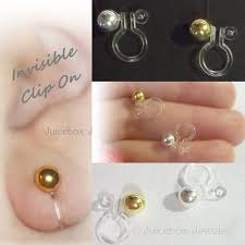 non nickel earrings 94 best invisible earrings non pierced clip on images on