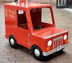 postman pat pedal car van