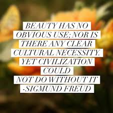 freud quotes u201cbeauty has no obvious use nor is there any clear